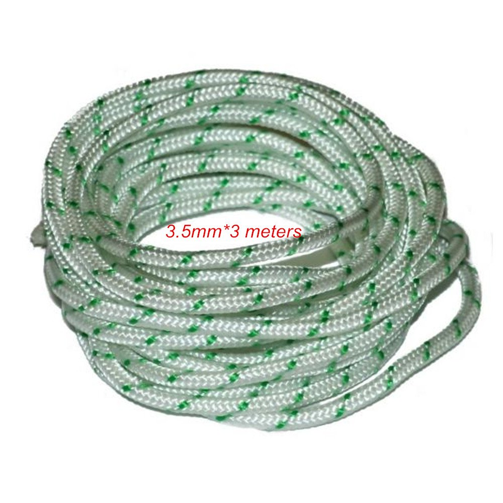 PODOY 3 Meters x 3.5mm Pull Starter Start Recoil Cord Rope Line Lawnmower Engine Petrol Wire Cord
