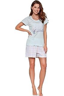 45cf5ca0ffc100 Moonline moderner und bequemer Damen Pyjama/Shorty, mit weicher Baumwolle,  Verschiedene Modelle