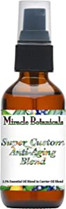 Miracle Botanicals Super Custom Anti-Aging Aromatherapy Blend - 100% Pure Essential Oils and Carrier Oils - Therapeutic Grade 2oz.
