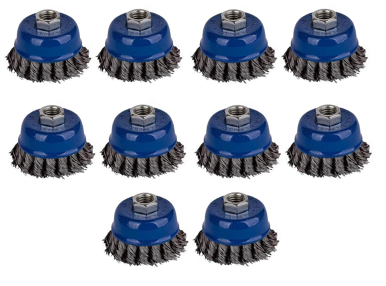 10x Kegelb/ürste /Ø 125 mm gezopft M14 Drahtb/ürste Scheibenb/ürste Winkelschleifer