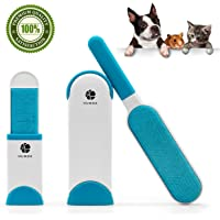 Pet Hair Remover with Self-Cleaning Base,Double-Sided Reusable Brush Removes Dog & Cat Hair from Clothes & Furniture
