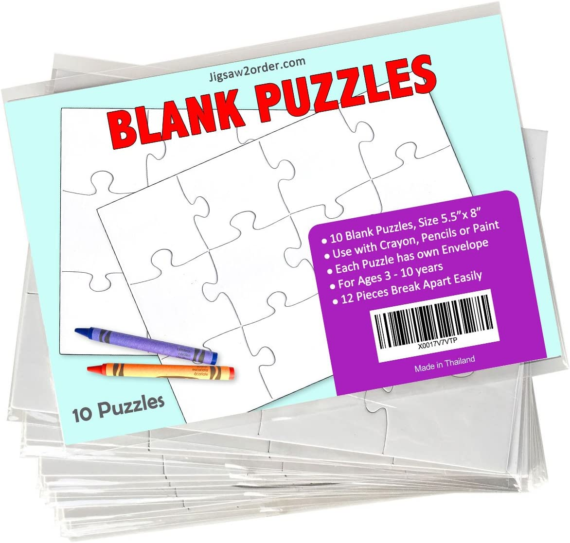 Make Your Own Personalised Jigsaw Puzzles for Children Set of 30 Pieces 10 Pack
