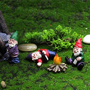 4PCS Drunk Dwarf Garden Gnomes Knomes Decorations Decor Clearance Drunken Figurines for Outdoor Indoor Patio Yard Lawn Porch Ornament Gift