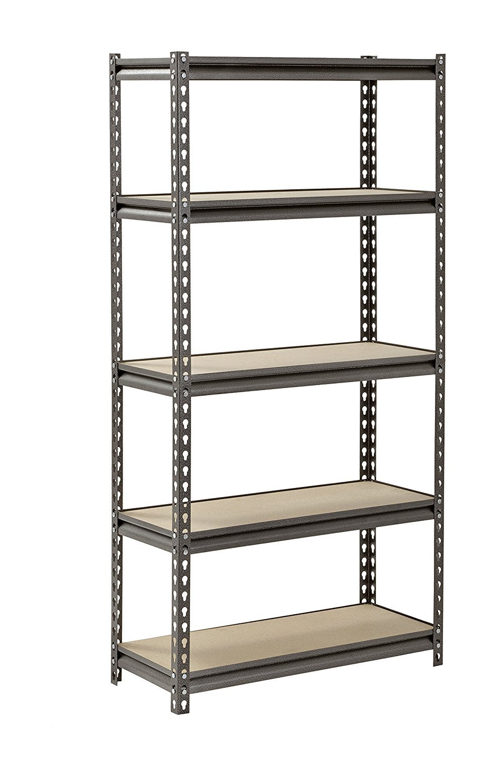 Muscle Rack UR301260PB5P-SV Silver Vein Steel Storage Rack, 5 Adjustable Shelves, 4000 lb. Capacity, 60'' Height x 30'' Width x 12'' Depth (2 Pack)