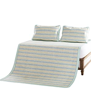 LIXIONG Plegable Verano durmiendo colchonetas Antideslizante Transpirable Cama colchones- 3 Piezas -Colchonetas de Verano