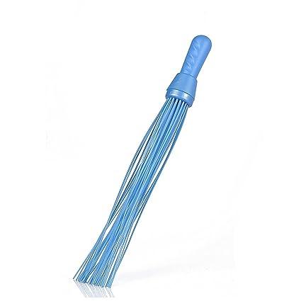 PinkDoze Nylon Kharata Plastic Medium Floor Broom Kharata Jharu/Jhadu Plastic Hard Bristle Broom Bathroom Cleaning Plastic Broom 44 Sticks (Color May Vary)