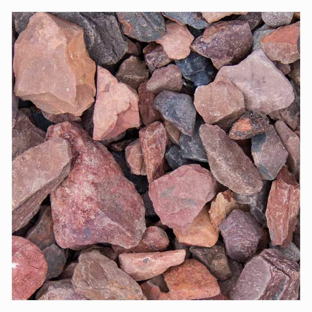 Roter Minenstein Ziersplitt 250kg Big Bag 14-25mm