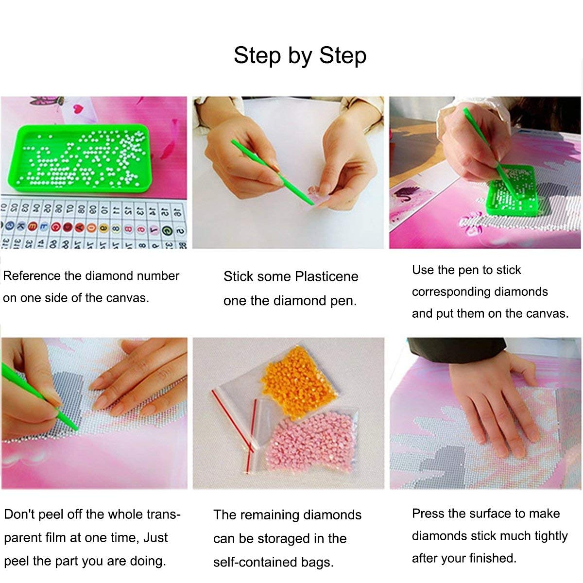 Packs 5D DIY Diamond Painting Paint by Numbers Kits for Adult ,Full Drill Diamond Embroidery Dotz Kit Home Wall Decor Kitchen