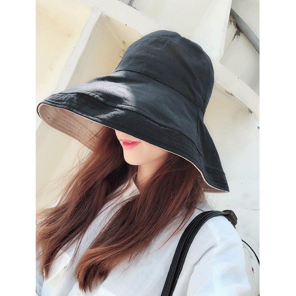 Hongyan Sombrero de Sun Hat Lady Sombrero de pescador de verano Sombrero de sol plegable Sombrero de visera de playa de vacaciones al aire libre (Color : 1#)