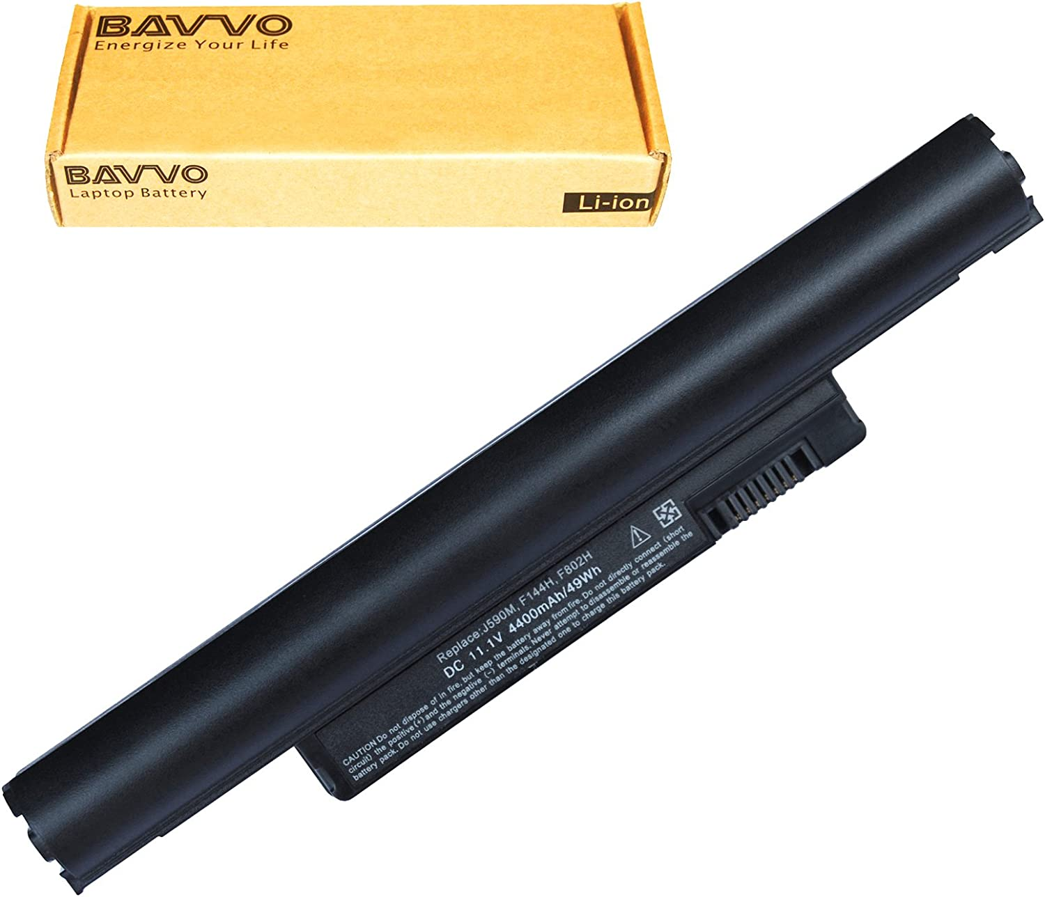 Bavvo Battery Compatible with DELL Inspiron Mini 10 10v 11z 1110 1011 H768N H769N, PN: 0D597P 0D830M 0F143M 0F144M 0H768N 0J590M 0K781 0K916P 0KIU10 0M456P 0M457P 0N531P