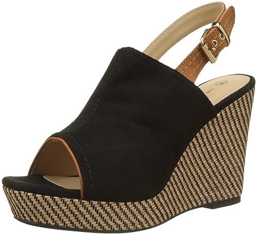 The Divine Factory Women's Celia Platform Sandals Clearance Pick A Best YBOGd5c