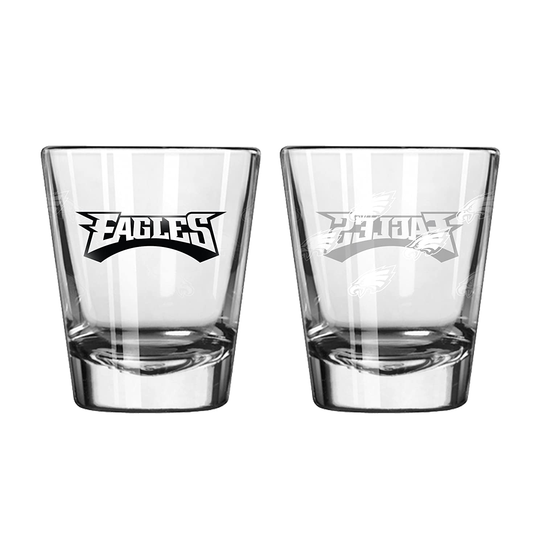 2 Pack Satin Etch Philadelphia Eagles Shot Glass