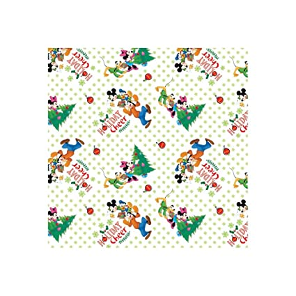 springs creative products disney christmas mickey friends trim the tree fabric by the yard - Disney Christmas Fabric
