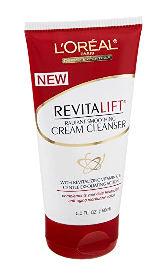 Loreal Revitalift Radiant Smoothing Cream Cleanser - 5 Oz, 6 Pack 6 Pack - Andalou Naturals ClearSkin Facial Scrub, Lemon Sugar 1.70 oz