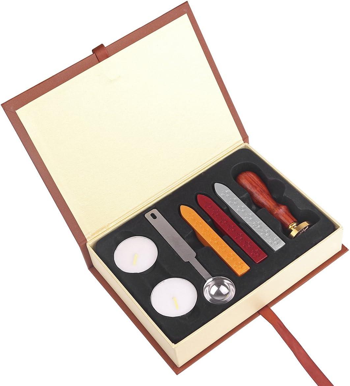 Juego De Caja De Regalo Con Sello De Pintura Al Fuego Kit De Personalizado Sellos De Lacre Harry Potter Lacre