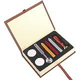 ONEVER Retro Wax Seal Stamps Kit | magic school badge | Wax Stick Spoon | Gift Box Set