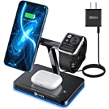 WAITIEE 3 in 1 Magnetic Wireless Charger Fast Wireless Charging Station iPhone 13/12/12 Pro/12 Pro Max/12 Mini,iWatch SE/6/5/