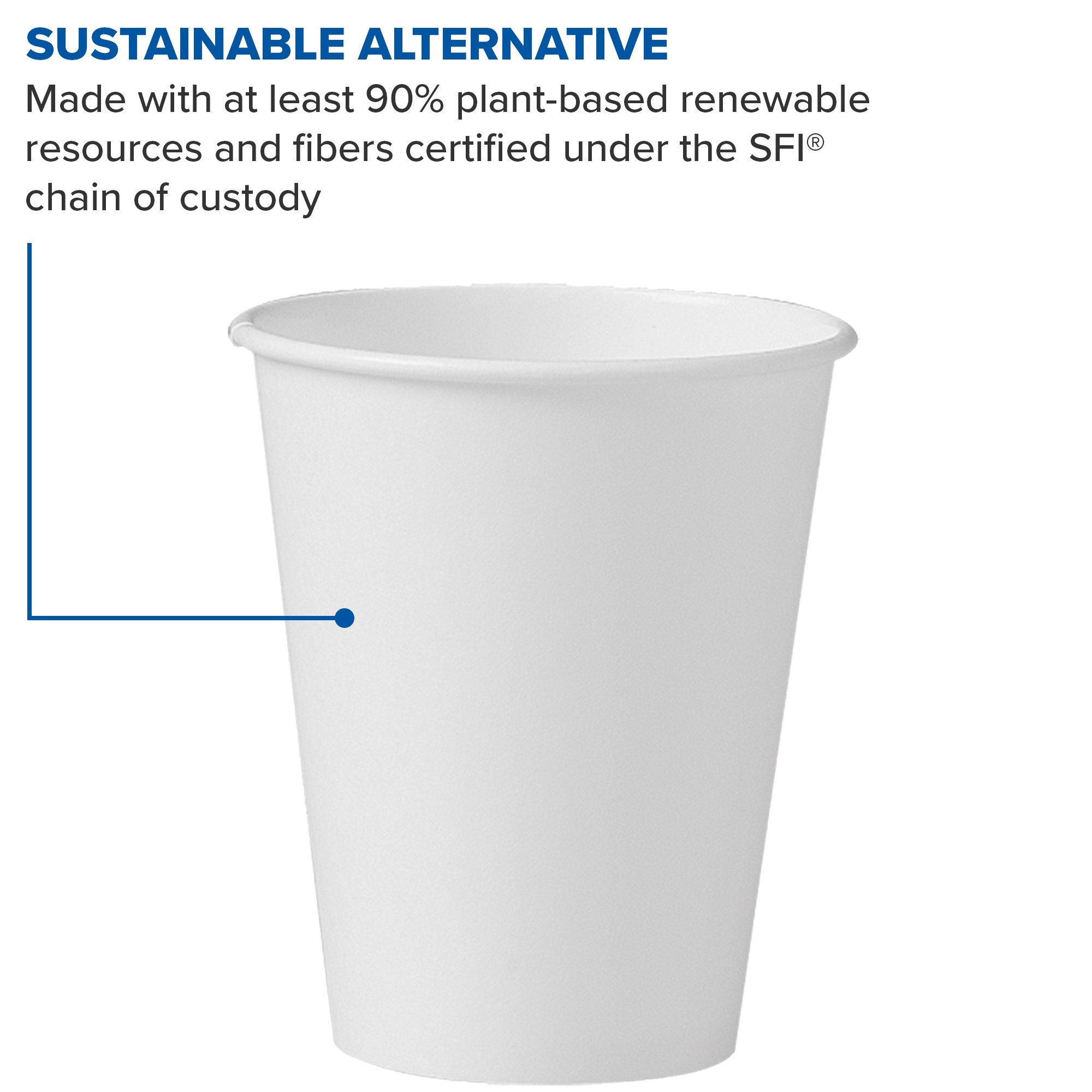 Solo 378W-2050 8 oz White SSP Paper Hot Cup (Case of 1000) by Solo Foodservice (Image #4)