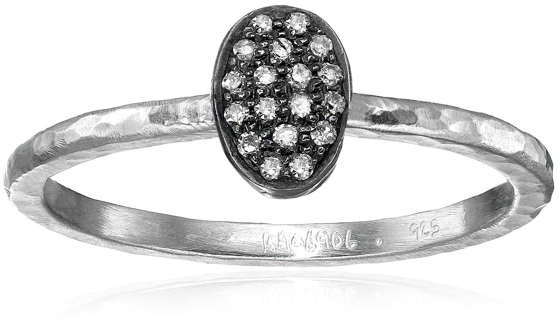 Gurhan Jordan Pave Diamond Sterling Silver Stackable Ring (1/10cttw, I-J Color, I2 Clarity), Size 6.5 SR170-DILT75-V