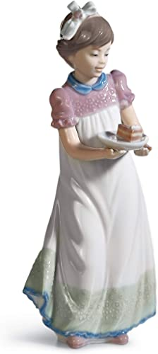 LLADR Happy Birthday Girl Figurine. Porcelain Birthday Figure.