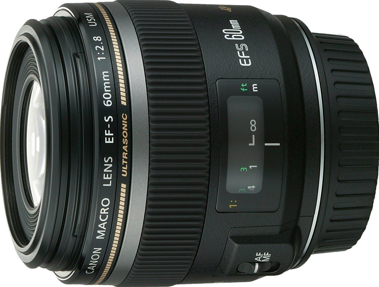Canon EF-S 60mm f/2.8 USM Macro Lens - non Image: Amazon.co.uk ...