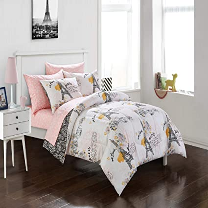 Amazon Com Ca 7 Piece Girls Ivory White Pink Eiffel Tower