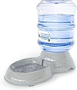 Automatic Replenish Pet Waterer - Gravity Pet Water Dispenser Station for Dogs, Cats or Small Pets - 1 Gallon
