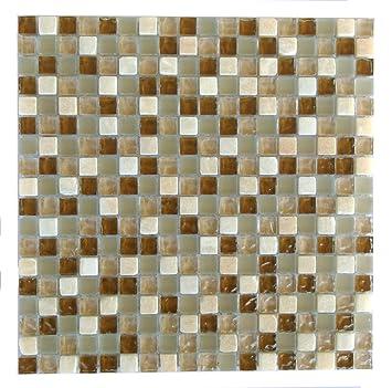 abolos braun beige mix Glas Mosaik Fliesen Küche Badezimmer ...