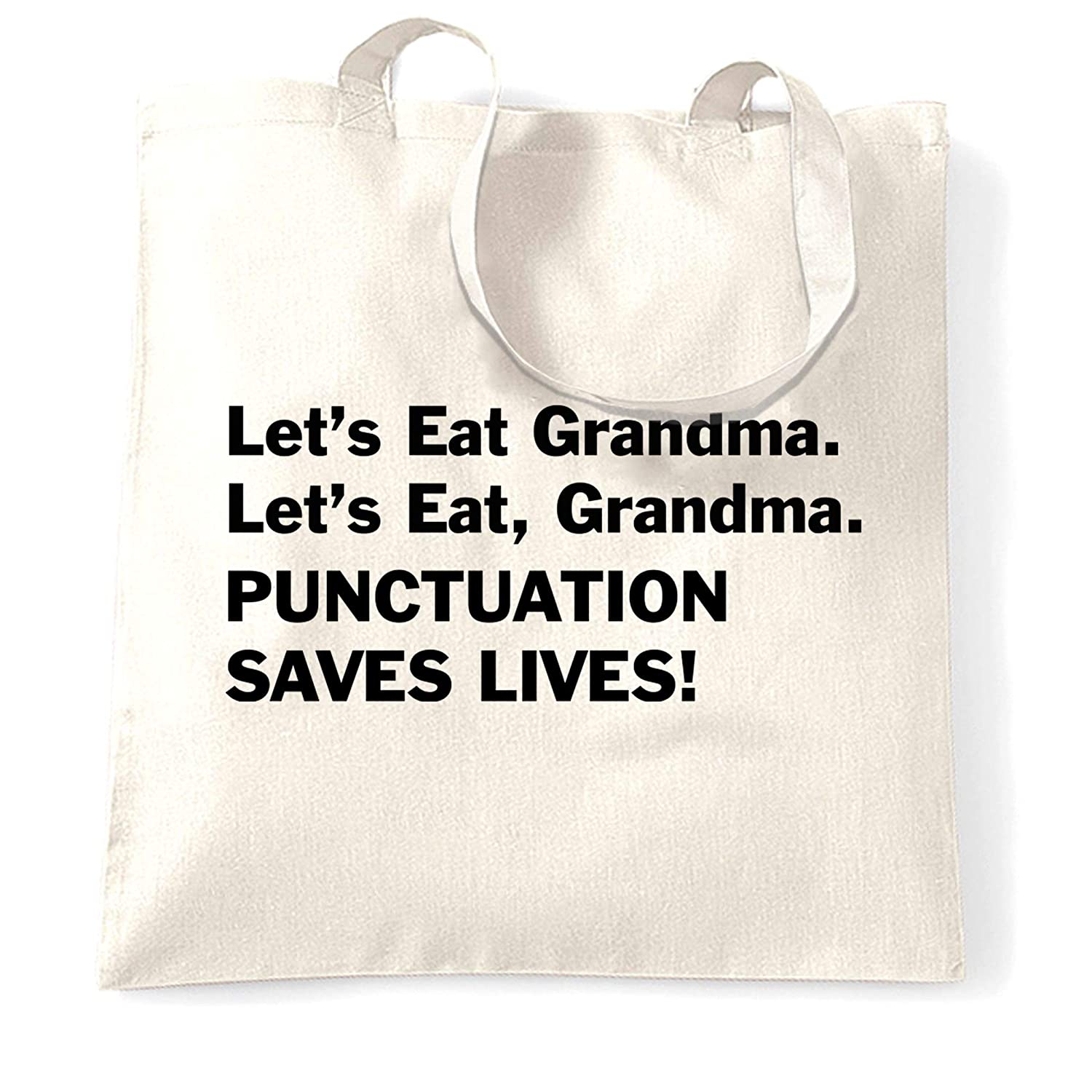 I Love Eating My Cat and Leaving Out Commas Large Beach Tote Bag Funny