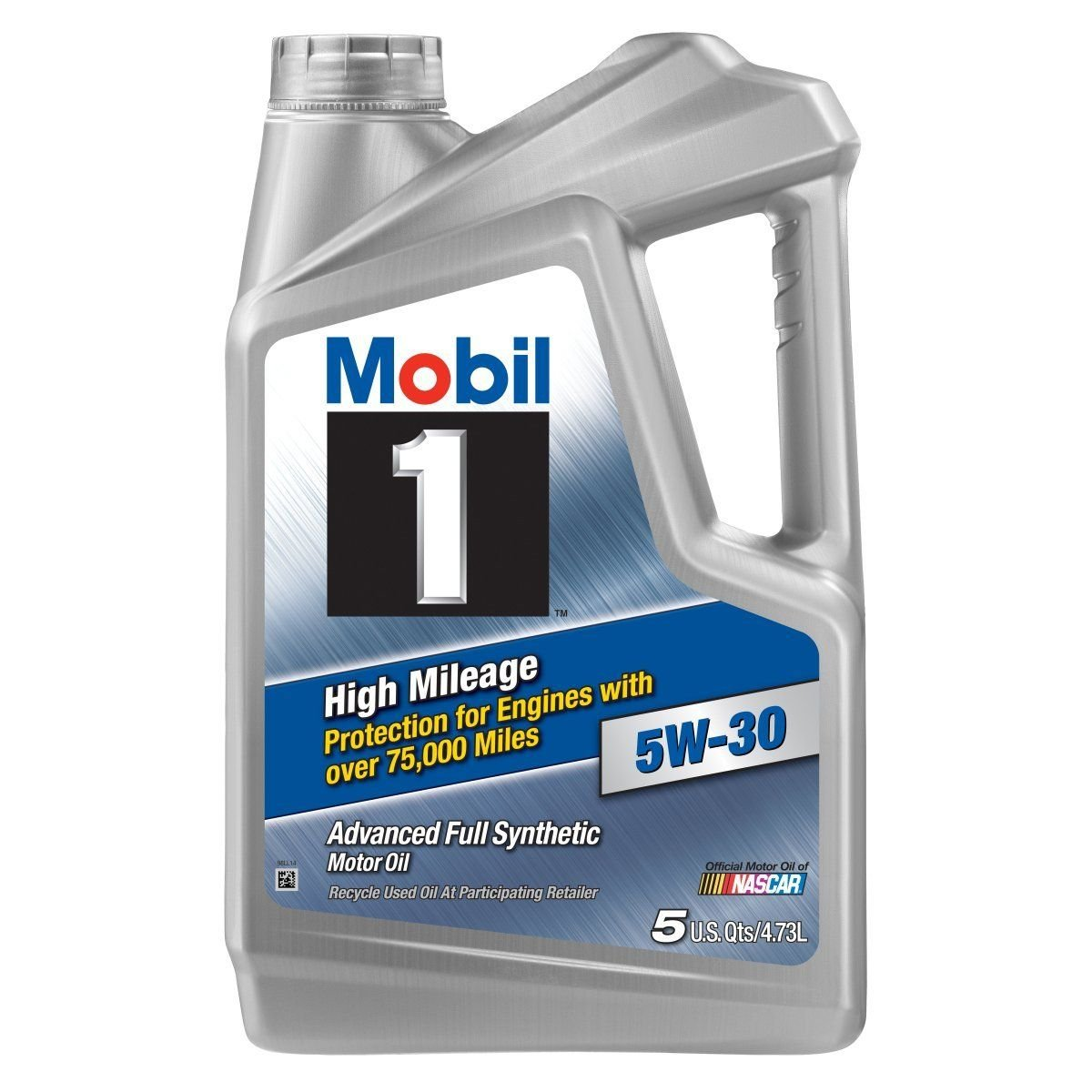 Mobil 1 (120769-3PK) High Mileage 5W-30 Motor Oil, 5 Quart, Pack of 3 by Mobil 1