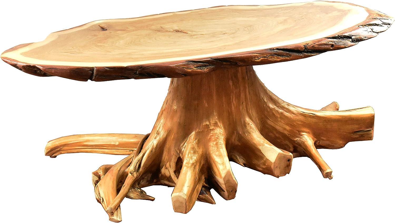 Amazon Com Rustic Coffee Table With Live Edge White Cedar Stump