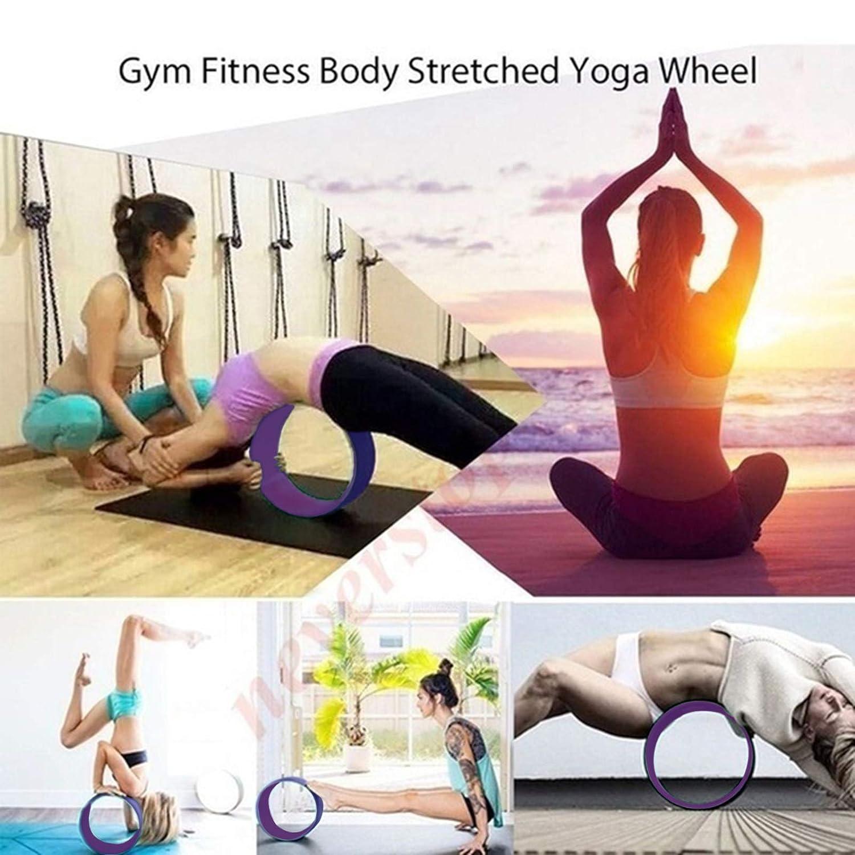 Amazon.com: NASUS 3 Pcs Yoga Wheel Set, Comfortable Safe ...