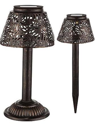 Lámpara LED solar lámpara de mesa Beet - Lámpara con estaca ...