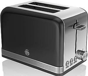 Swan Retro 2 Slice Toaster, Black
