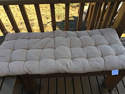 OctoRose Soft Micro Suede Bench Cushion Covers, Patio Long Chair Pads  (17x40, Khaki