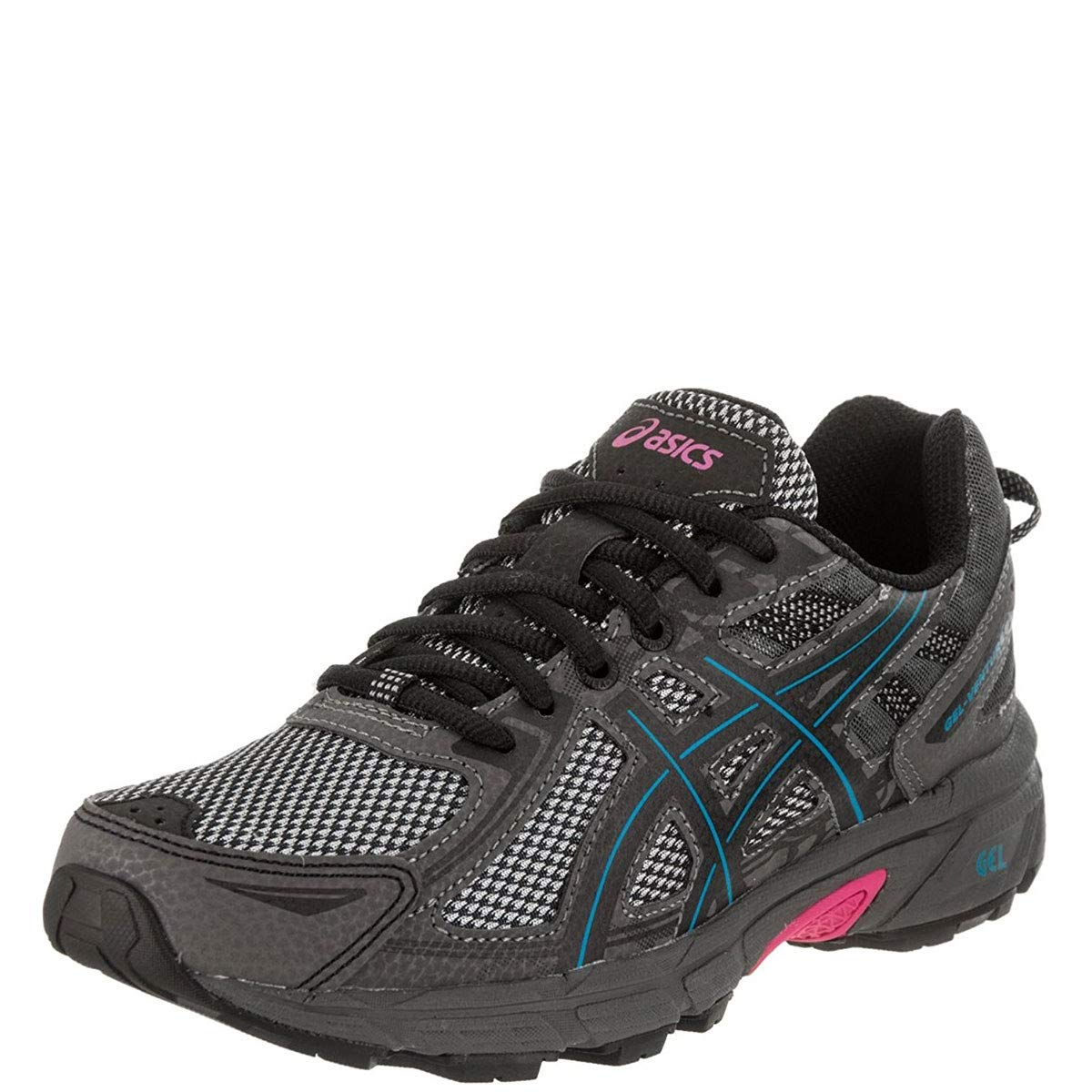 ASICS Women's Gel-Venture 6 Running-Shoes, Black/Island Blue/Pink, 8.5 by ASICS