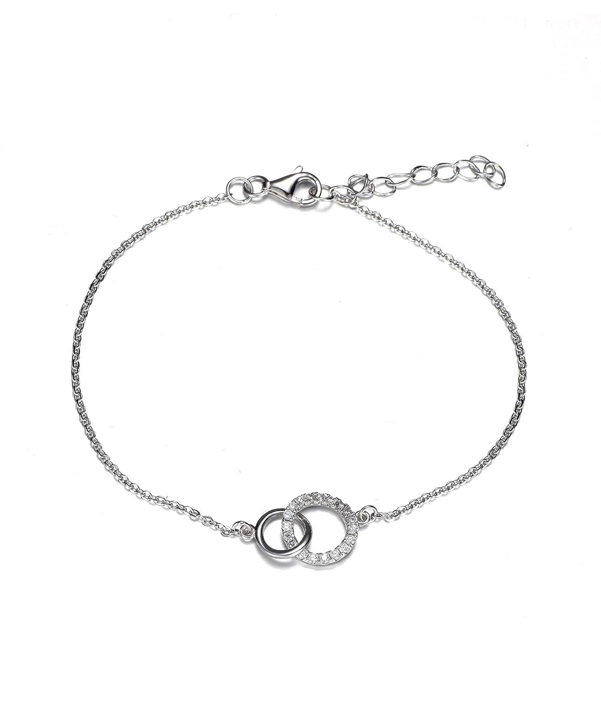 JO WISDOM bracelet argent 925 femme avec AAA Oxyde de Zirconium YH Jewelry HB12100E11