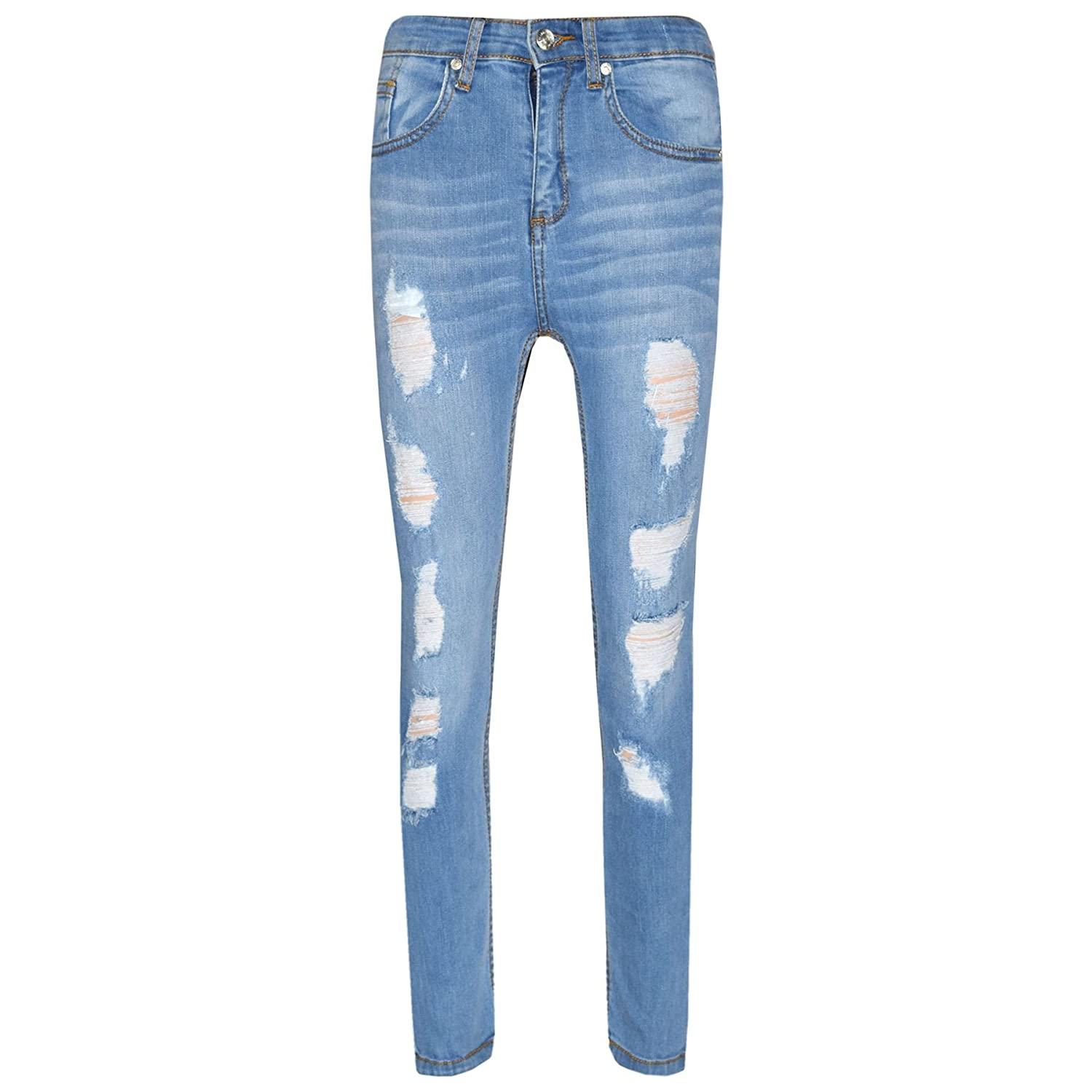 A2Z 4 Kids® Boys Stretchy Jeans Kids Designer's Ripped Denim Skinny Pants Fashion Trousers Age 5 6 7 8 9 10 11 12 13 Years