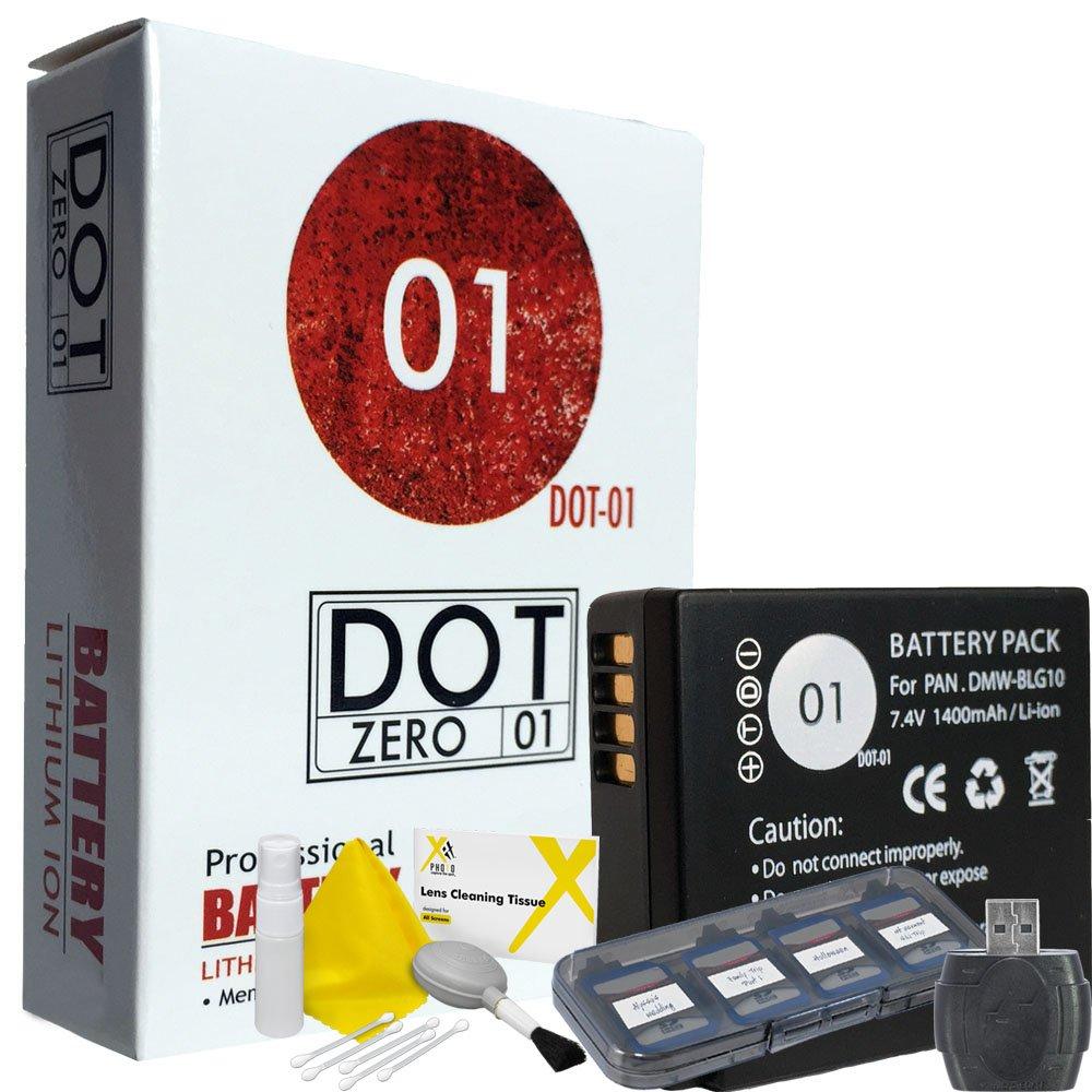 DOT-01 Brand Panasonic Lumix DC-GX9 Battery for Panasonic Lumix DC-GX9 Mirrorless and Panasonic GX9 Battery Bundle for Panasonic BLG10 DMW-BLG10