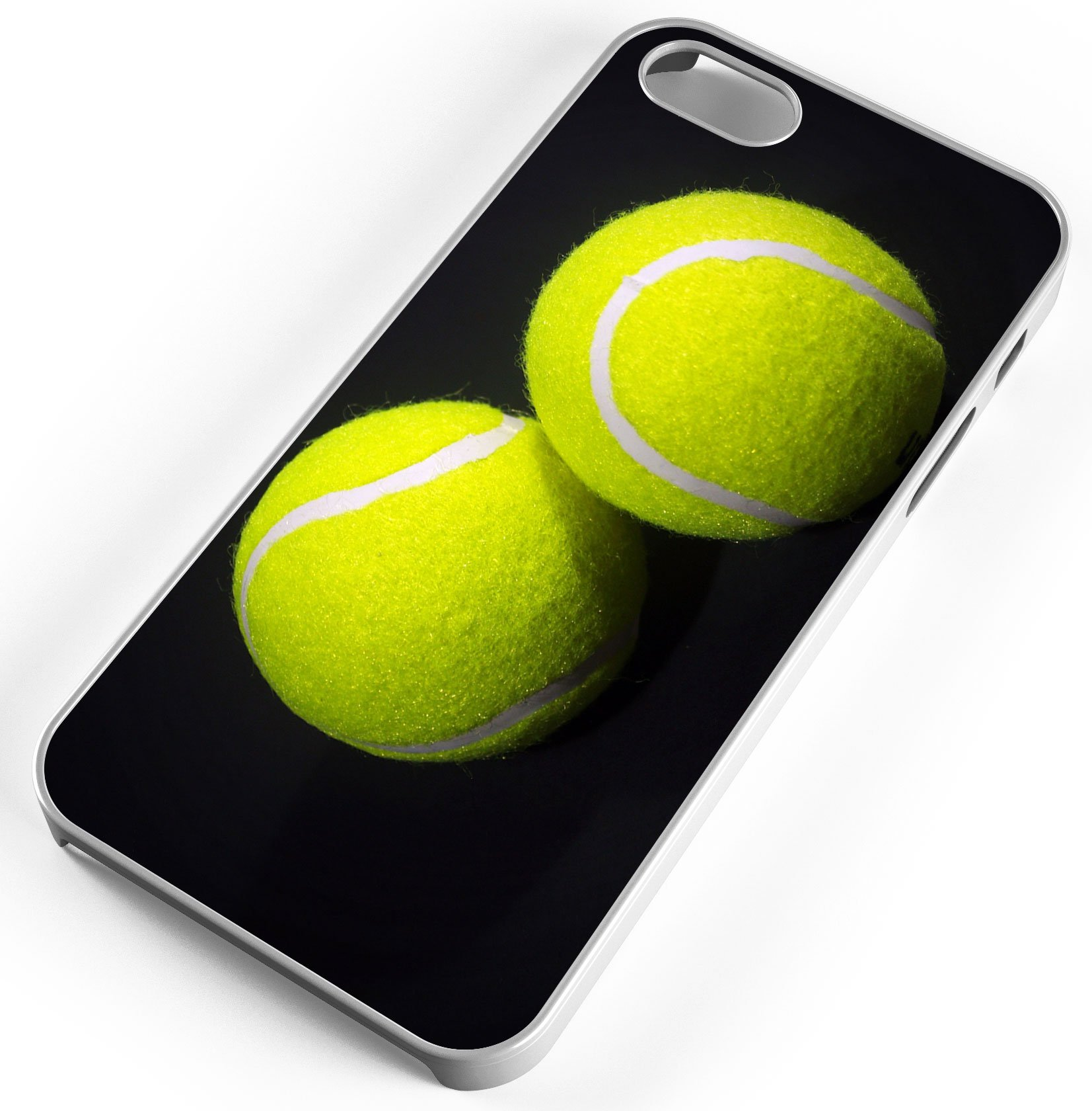 iPhone Case Fits Apple iPhone 8 PLUS 8+ Tennis Balls Clear Plastic