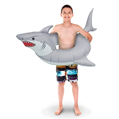 GoFloats 'Great White Bite' Jr Pool Float Party Tube, Stylish Floating for Kids: Sports & Outdoors