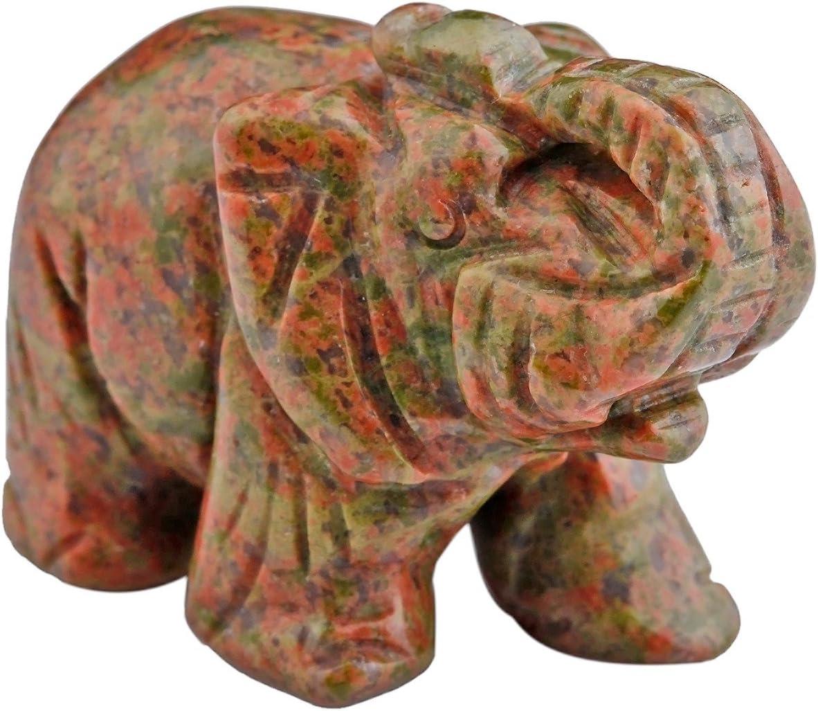 mookaitedecor Figura decorativa de elefante con cristales ...