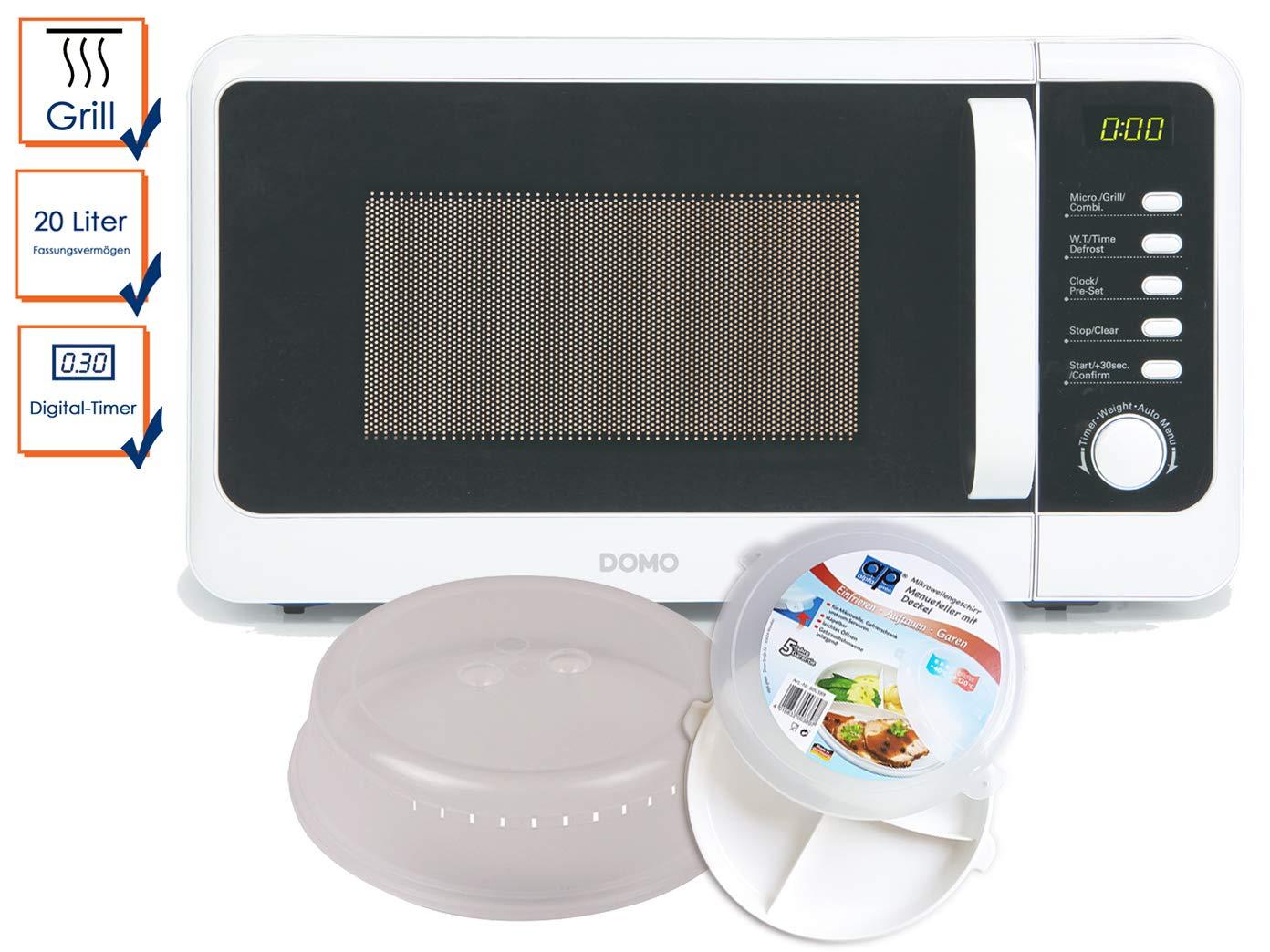 Nevera Microondas con grill 800/1000 W en blanco, incluye 5 piezas ...