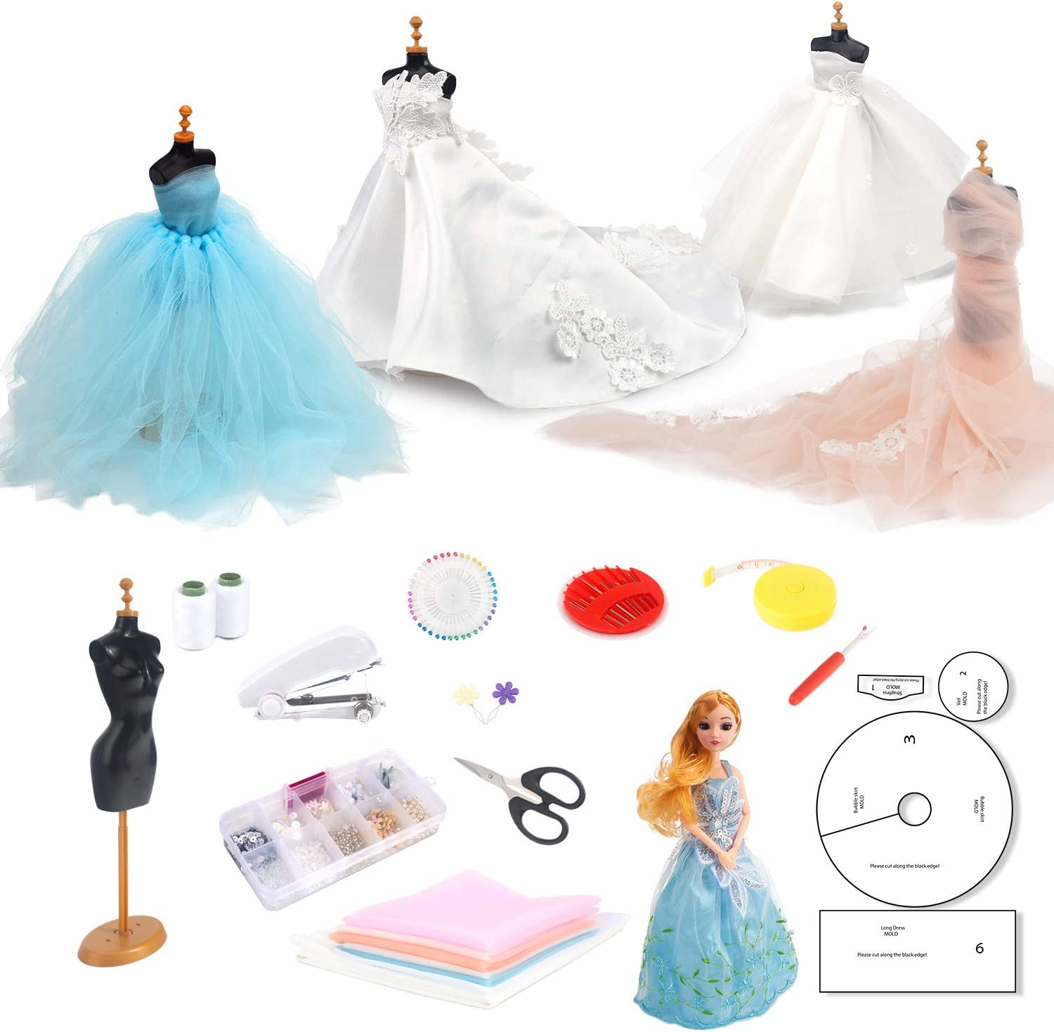 Amazon Com Tesmains Fashion Wedding Dress Design Kit Design And Sewing Kit For Teenagers Kids Girls Adults Toys Games