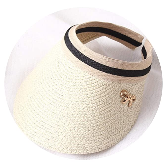 47ecdb87 Cute Bow Sun Hat Beach Hat Wide Brim Straw Visor Hat Cap Summer Hats Women  Caps
