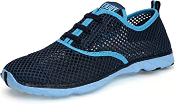 Also Easy Exquisite Womens Quick Drying Aqua Water Shoes Dark Blue7 B(M) US