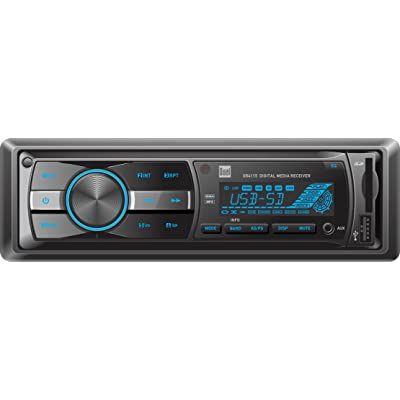 Dual Electronics XR4115 Multimedia Detachable Mechless LCD High Resolution Single DIN Car Stereo Receiver with Built-In USB, SD Card, MP3 & WMA Player: Car Electronics