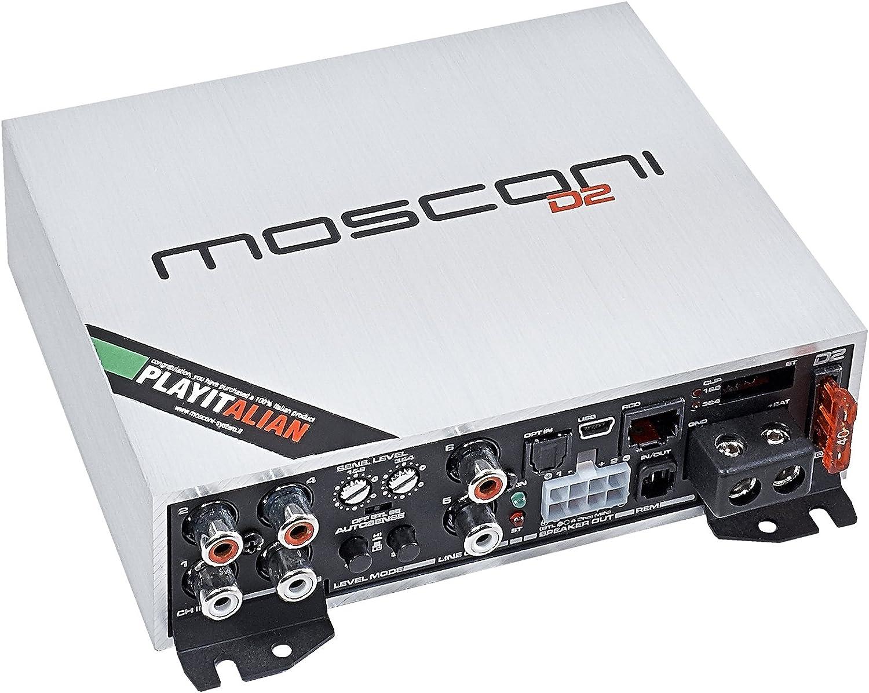 Gladen Mosconi D2 100,4 DSP - 4-canal digital-amplificador con procesador: Amazon.es: Electrónica
