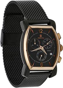 Christian Geen Analog Watch For Men - Stainless Steel, Black - 4034Glr-Br