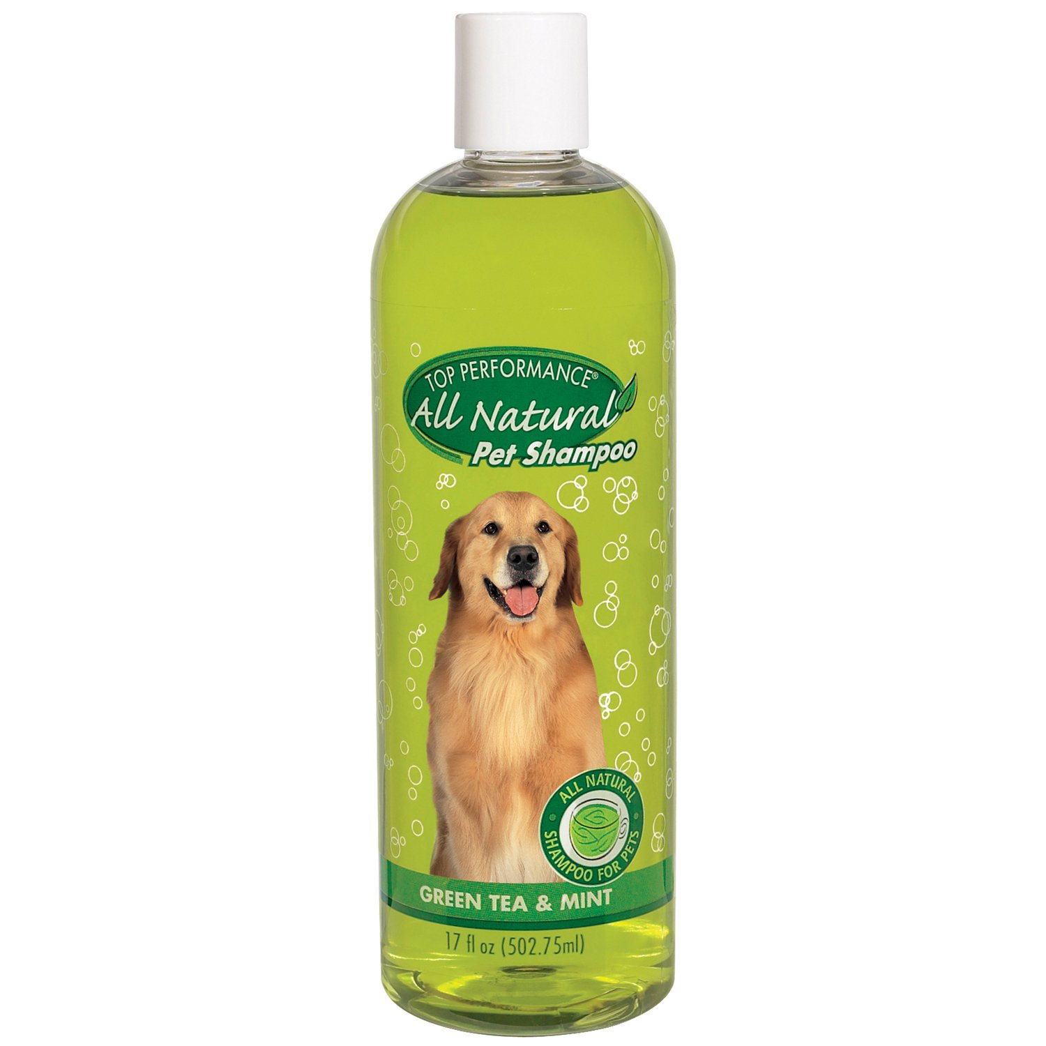 Top Performance Green Tea and Mint Shampoo for Puppies and Kittens – Natural Shampoo to Safely Bathe Young Pets, 17 Oz.